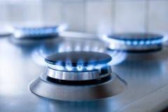 Fiamma del gas fotografia stock libera da diritti