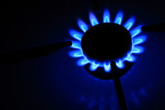 Fiamma del gas naturale Fotografie Stock Libere da Diritti