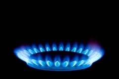 Fiamma di gas Fotografie Stock Libere da Diritti