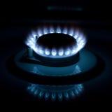 Fiamma di gas Fotografia Stock Libera da Diritti