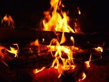 Fiamma di un fuoco Fotografia Stock Libera da Diritti
