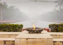 Fiamma eterna di pace, zona del monastico di Lumbini fotografia stock