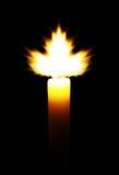 Fiamma a forma di foglia dell'acero Immagine Stock Libera da Diritti