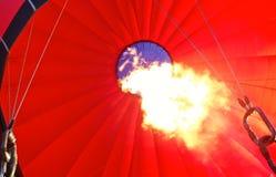 Fiamma interna di una mongolfiera Fotografia Stock Libera da Diritti