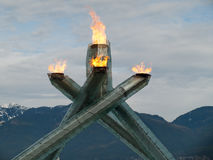 Fiamma olimpica 2010 del â di Vancouver Immagine Stock Libera da Diritti