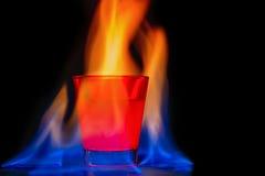 Fiamma rossa del cocktail Immagine Stock Libera da Diritti