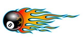 Fiamma tribale classica dell'automobile del muscolo del hotrod con la palla 8 immagine stock
