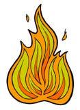 Fiammata del fuoco Fotografie Stock