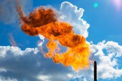 Fiammata del gas Fotografie Stock