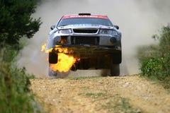 Fiammata di Mitsubishi Lancer Fotografia Stock