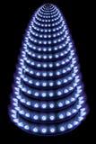Fiamme blu di gas nello scuro Fotografia Stock Libera da Diritti