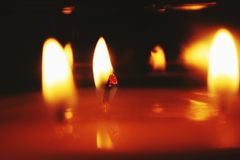 Fiamme Burning fotografia stock