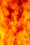 Fiamme da un grande fuoco Fotografie Stock
