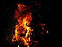 Fiamme del fuoco Immagine Stock Libera da Diritti