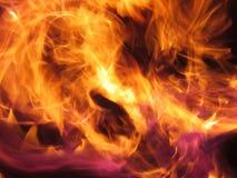 Fiamme del fuoco Fotografie Stock