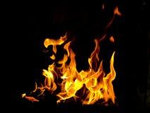 Fiamme del fuoco Immagini Stock Libere da Diritti