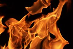 Fiamme del fuoco immagine stock