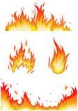 Fiamme del fuoco - collage illustrazione vettoriale