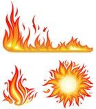 Fiamme del fuoco - collage royalty illustrazione gratis