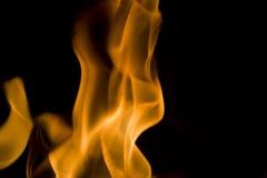 Fiamme della priorità bassa del fuoco Fotografia Stock Libera da Diritti