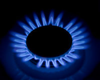Fiamme della stufa di gas. Fotografie Stock