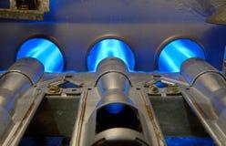 Fiamme di energia del gas Immagine Stock