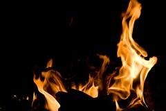Fiamme di fuoco Fotografie Stock