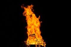 Fiamme di grande fuoco Fotografia Stock Libera da Diritti