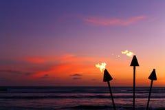 Fiamme di tramonto Fotografie Stock