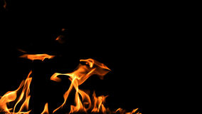 Fiamme e fuoco dell'alfa canale stock footage