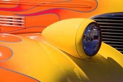 Fiamme su un Hotrod Fotografia Stock
