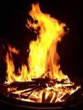 Fiamme in un anello del fuoco Immagini Stock