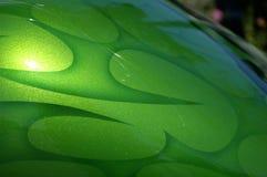 Fiamme verdi immagine stock
