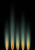 Fiamme verdi del gas Fotografie Stock Libere da Diritti