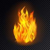 Fiammeggi il emoji del fuoco o dell'icona, l'emoticon acceso, il pericolo illustrazione vettoriale
