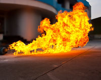 Fiammeggiare del fuoco fotografia stock libera da diritti