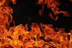 Fiammeggiare del fuoco Fotografia Stock