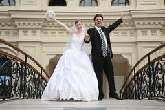Fiance and bride royalty free stock image
