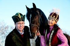 Fiance en fiancee royalty-vrije stock afbeelding