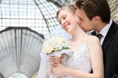 Fiance met de bruid stock fotografie
