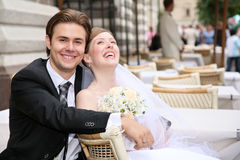 Free Fiance With The Bride Royalty Free Stock Image - 2896346