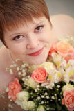 Fiancee. This is image of fiancee with flowers Royalty Free Stock Photos
