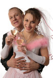 The fiancee and bridegroom at a wedding. The fiancee and bridegroom at wedding Royalty Free Stock Images