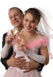 Fiancee en de bruidegom bij een huwelijk royalty-vrije stock afbeeldingen