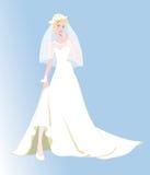 Fiancee, gehuwd huwelijk, het leven, witte kleding Stock Foto