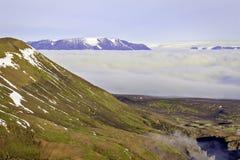 Fianco di una montagna di Kerlingarfjoll Fotografie Stock Libere da Diritti