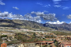 Fianco di una montagna scenico di Tenerife Fotografia Stock