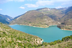 Fiastra Lake Royalty Free Stock Photo