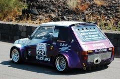 Fiat 126 durante o hillclimb Catania-Etna 2009 Fotos de Stock