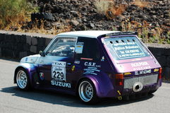 Fiat 126 during the hillclimb Catania-Etna 2009 Stock Photos